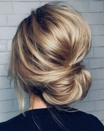 Bouffant Low Bun