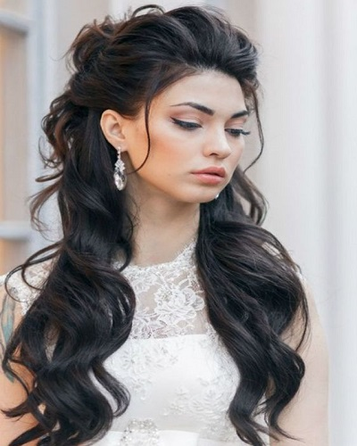 Elegant Half Up Half Down