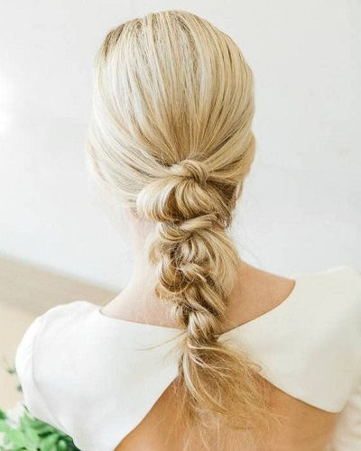 Knotted Braid Wedding Hairstyles for Long Hair