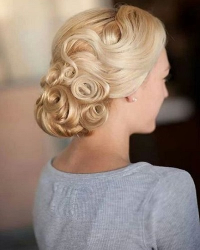 Pinned Curls Updo