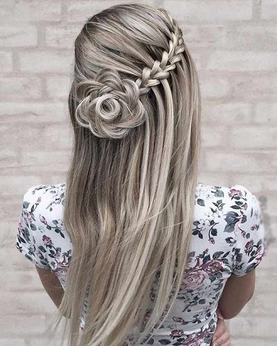 Rose Bun Hairstyle