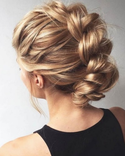 Elegant Braided Mohawk
