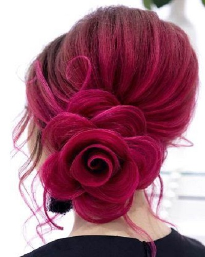 Rose Low Bun