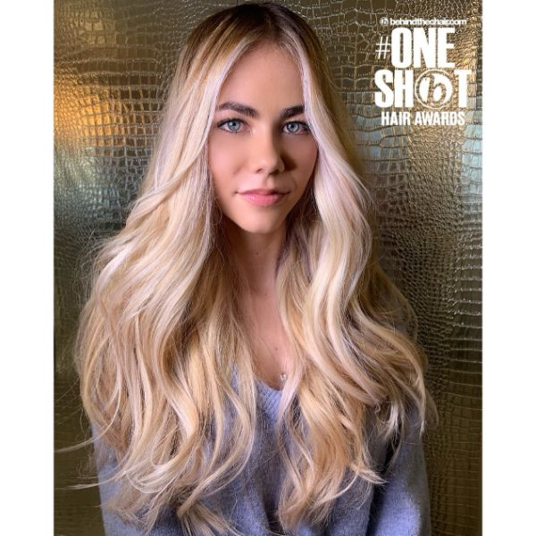 Beach Waves for Long Layered Blonde Hair