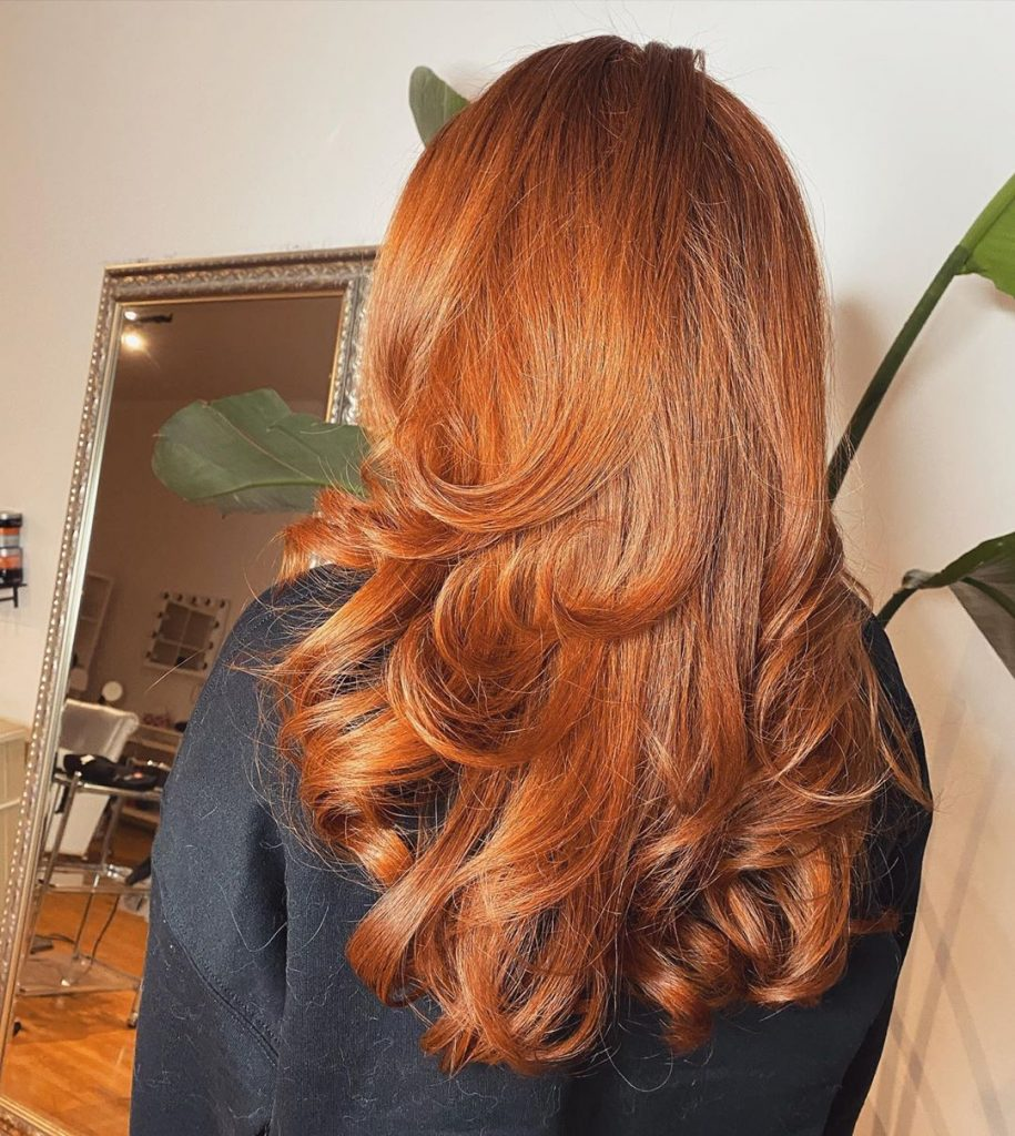 Bouncy Layers for Red Ginger Long Hair