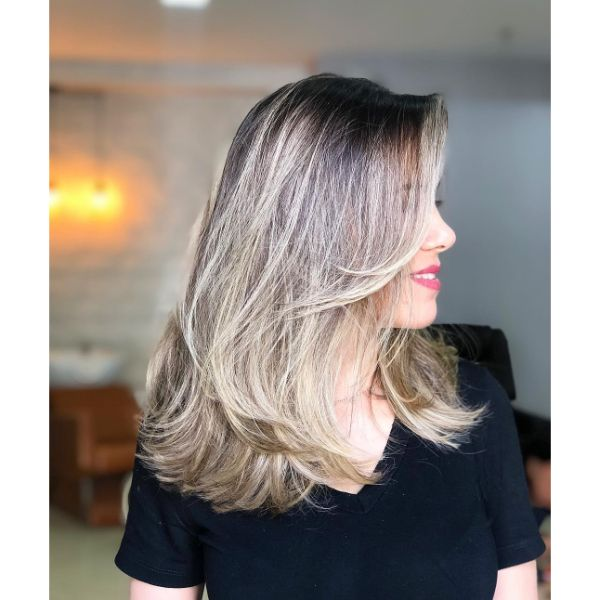 Feathered Short and Long Layers for Fine Blonde Hair