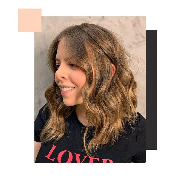 Golden Blonde Extra Long Bob for Wavy Hair