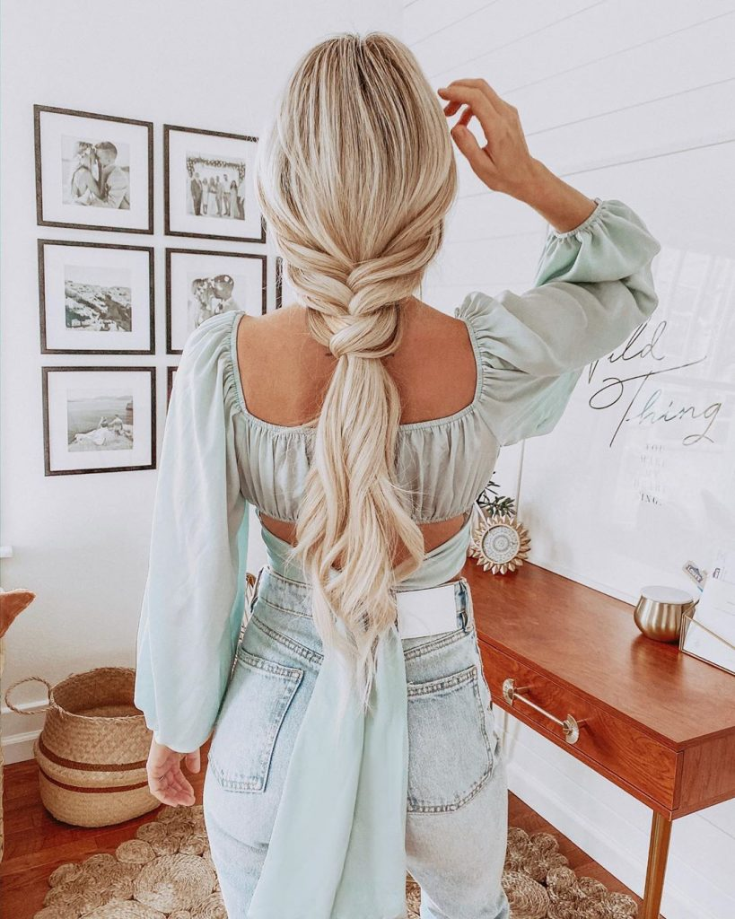 Half Braided Fishtail for Long Hair