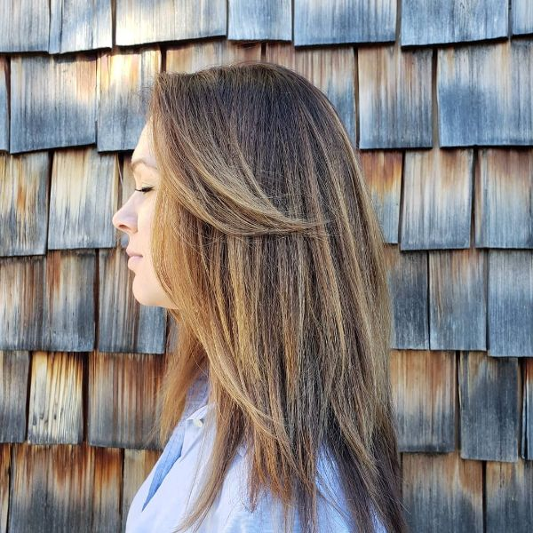 Long Layers and Wings for Straight Balayage Hair