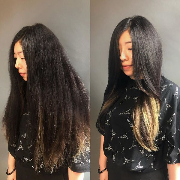 Long Layers for Straight Extra Long Hair with Highlights