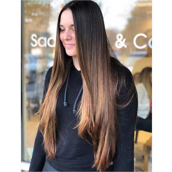 Long Straight Sleek Layers for Extra-Long Hair