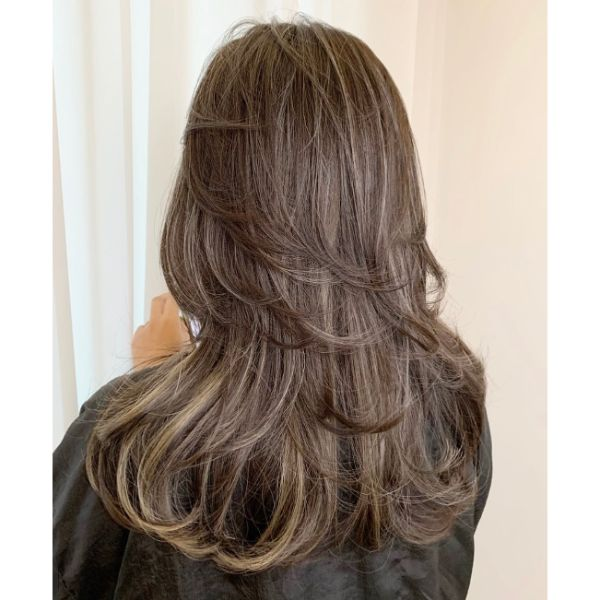 Long Swoopy Layers for Straight Long Hair