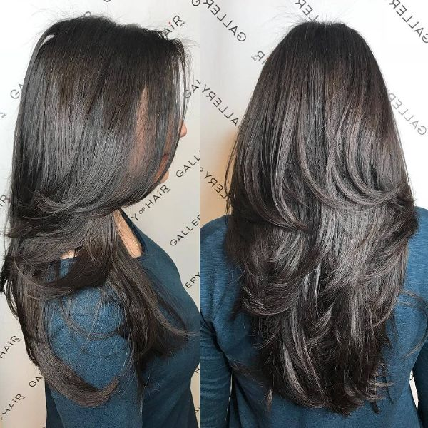 Long Thick Haircut with Medium Layers