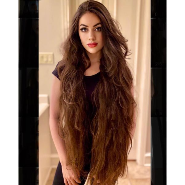 Long and Short Layers for Extra Long Hair
