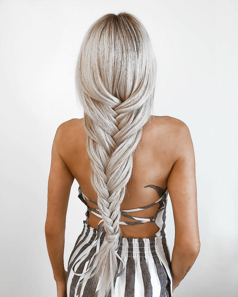 Loose Fishtail for Long Hair