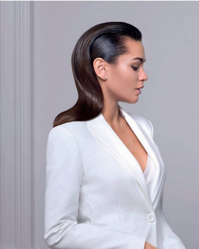 Sleek Long Hair with wavy styling