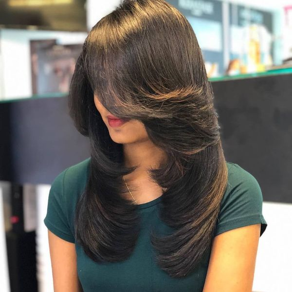 Smooth Long Layers for Long Hair