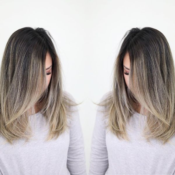 Subtle Ombre Layers for Medium Long Hair