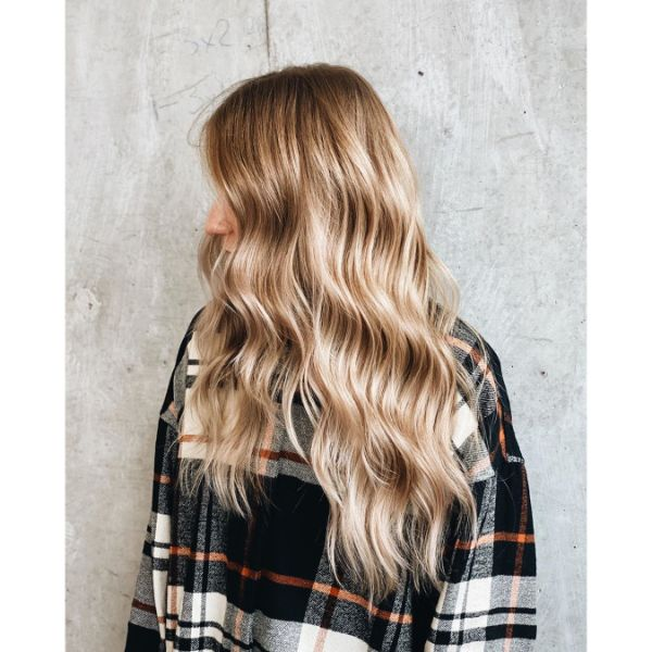 Beach Waves for Extra Long Layered Blonde Hair