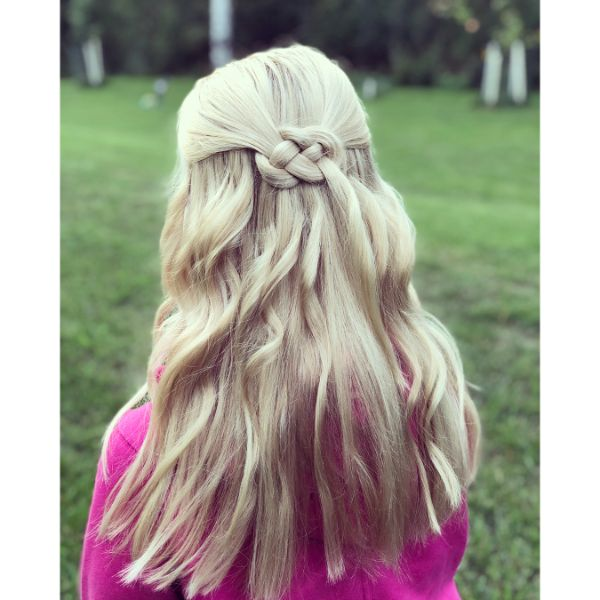 Celtic Knot Braided Hairstyle for Long Blonde Hair
