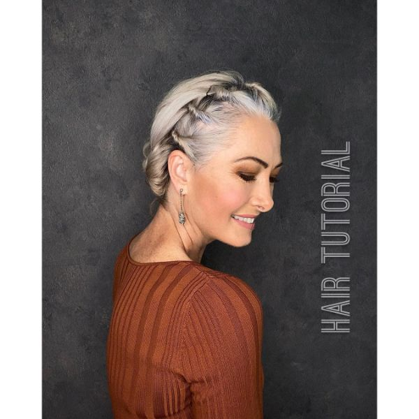 Crown Hairstyle with Top Little Knots and Twists