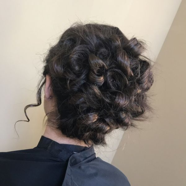 Curly Ends Messy Bun
