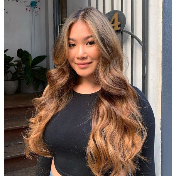 Extra Long Layered Haircut for Wavy Ombre