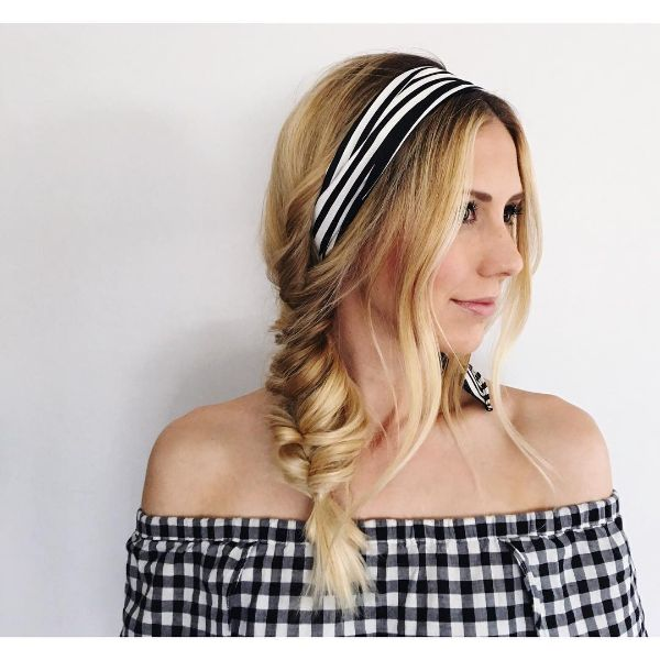 Faux Fishtail Braid with Headband