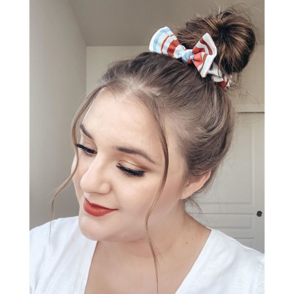 High Messy Knot with Scrunchies