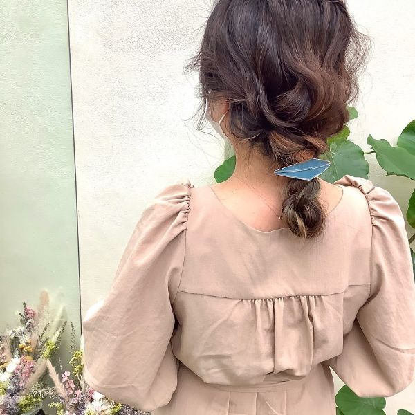 Intricate Braid with Hair Accessory