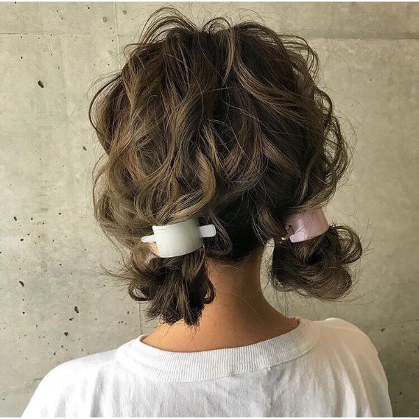 Knotted Messy Pigtails