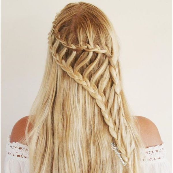 Ladder Braid Hairstyle for Long Hair