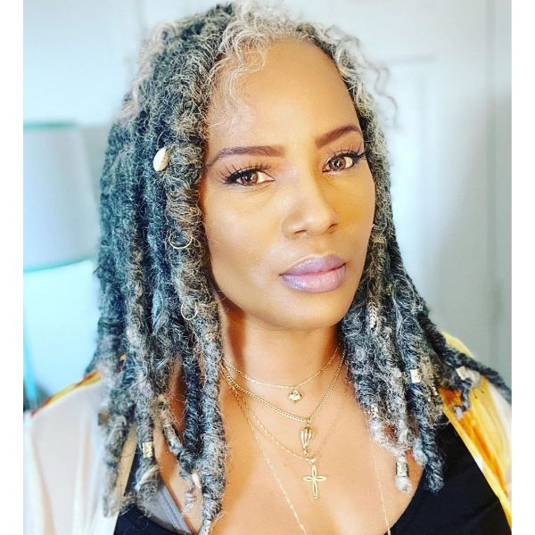 Lived-in Dreadlocks Hairstyle for Older  Women