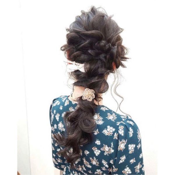 Mermaid Style Messy Braid for Brides