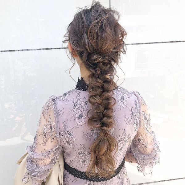 Messy French Braid For Long Hair