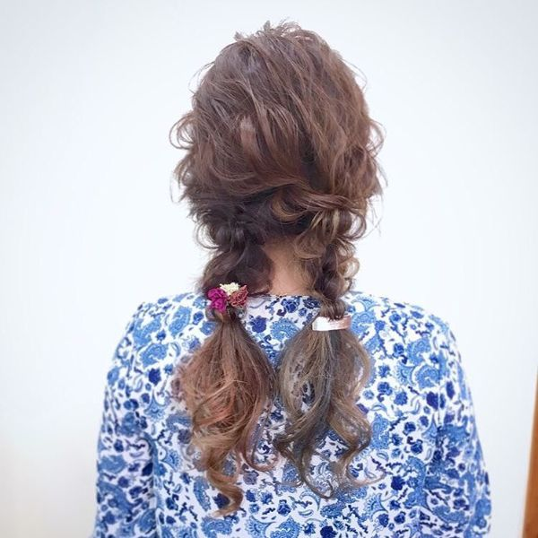 Messy MilkMaid Braids for Long Brunette Hair