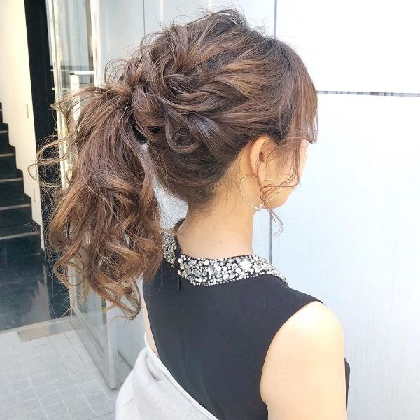 Messy Tangled High Ponytail for Long Wavy Hair