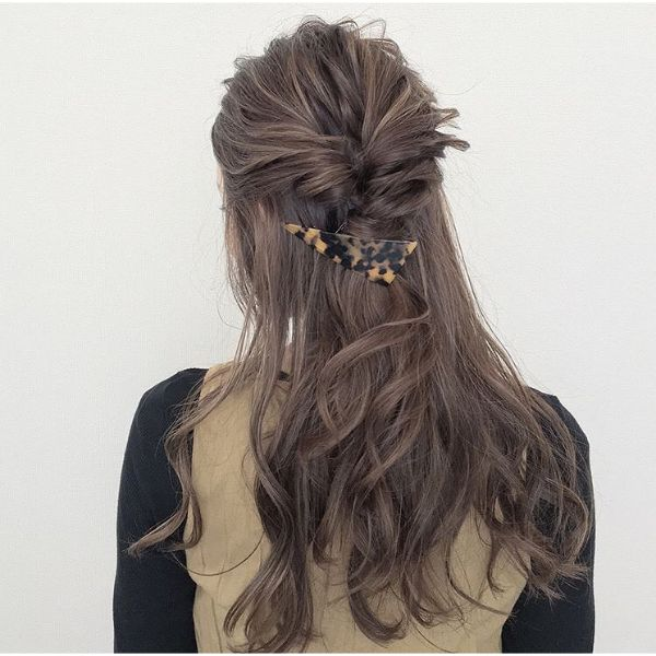 Pull-trough Half Braid with Hairpin