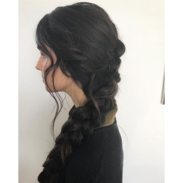 Relaxed Messy French Braid