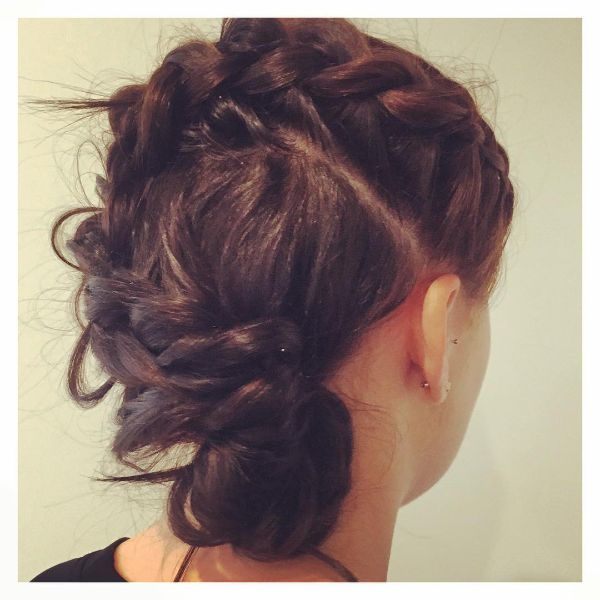 S-Shaped Messy Braid for Long Hair