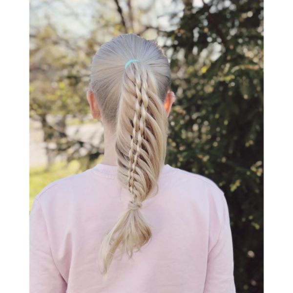 Topsy Tail Braided Hairstyle for Long Hair