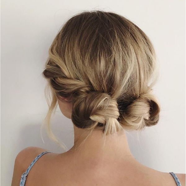 Twisty Double Buns