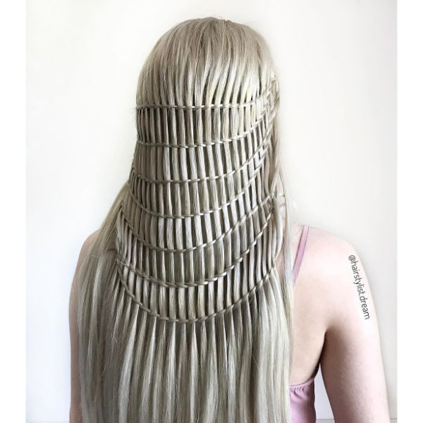 Waterfall Braids for long Hair