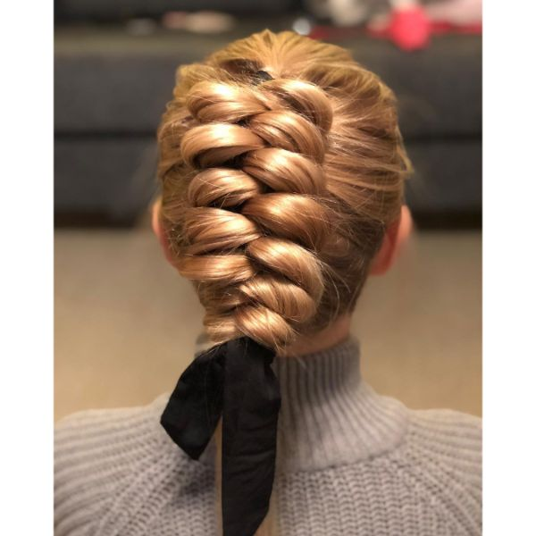 Wrap-around Dutch Ribbon  Braid