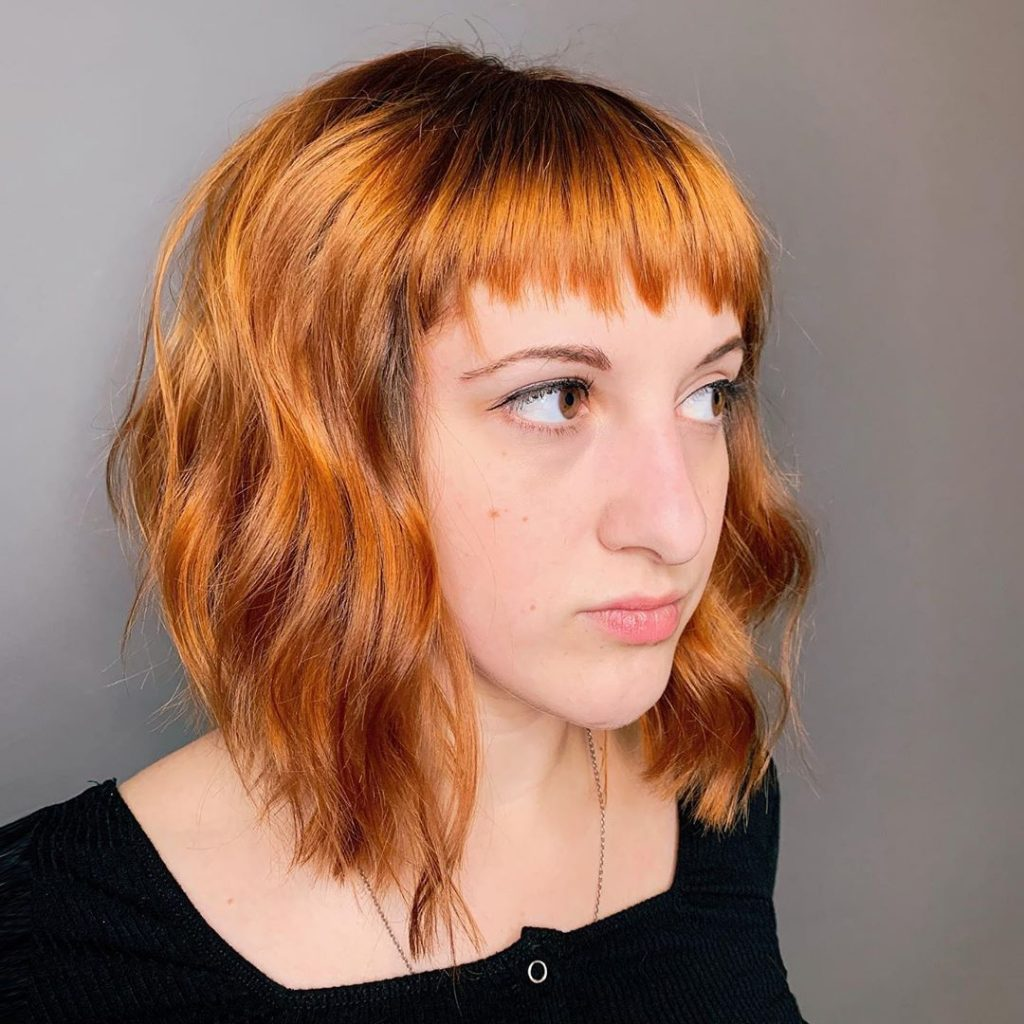 Aggressive Textured Bangs