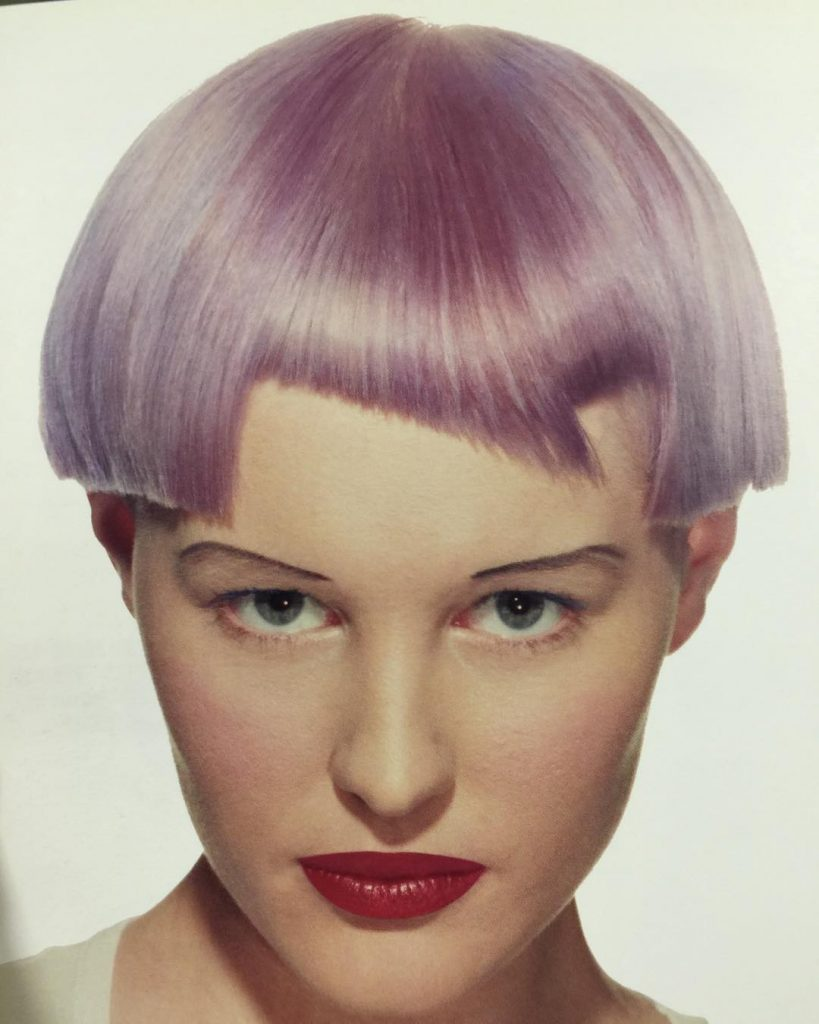 Asymmetric Icy Pink Fringe
