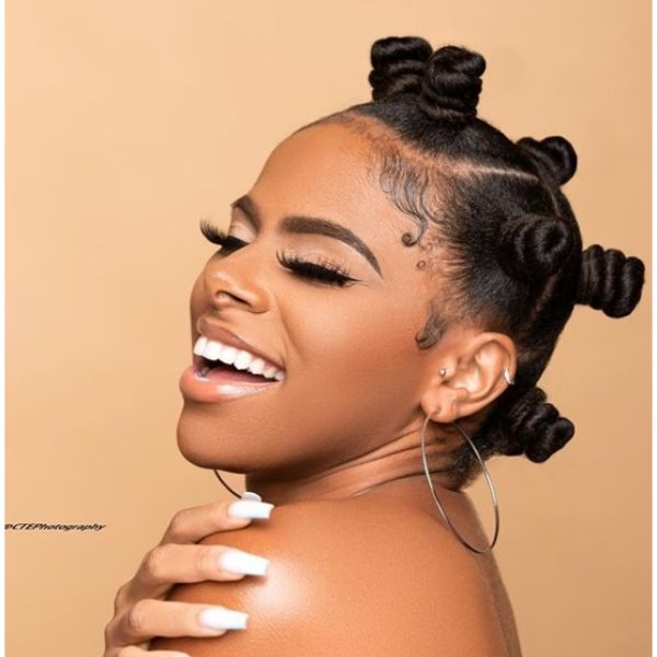 Bantu Knots Protective Hairstyle for Curls