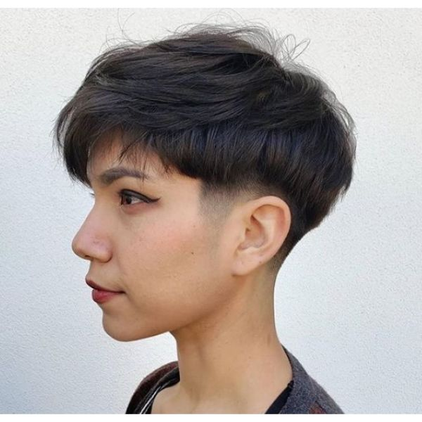 Bowl-cut with Tapered Side