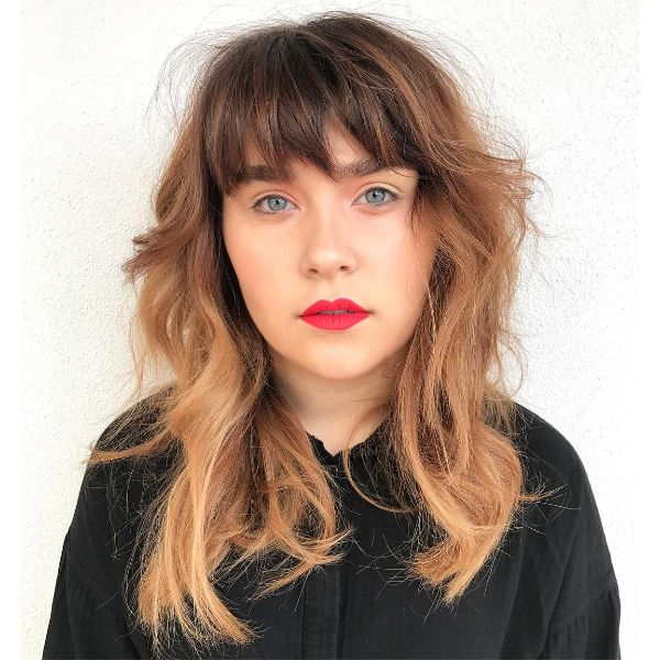 Choppy Balayage Bangs