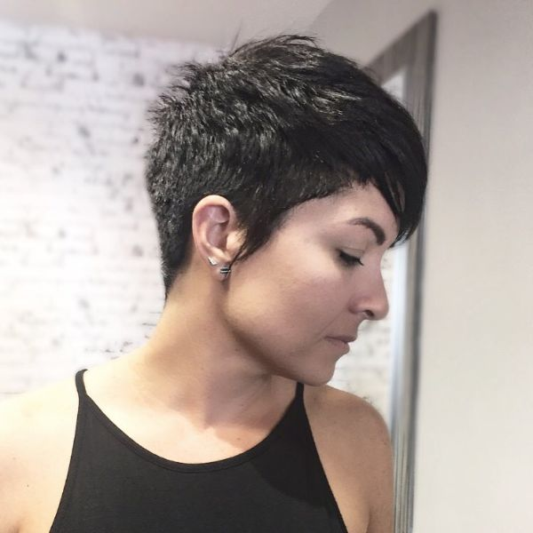 Classic Pixie Cut with Long Sideburns